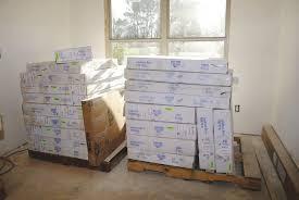 an rta kitchen arrives on pallets