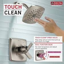 delta t17264 chrome ashlyn monitor 17 series dual function pressure balanced shower trim package with touch clean shower head and integrated volume control
