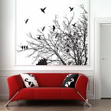 tree branch with birds vinyl wall art