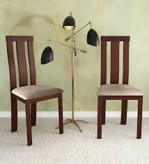 Image Outdoor Furniture Pepperfry Delton Dining Chair set Of 2 In Walnut Finish By Hometown