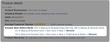Amazon Best Seller Rank Chart Understanding The Amazon Best Sellers Rank Bsr The
