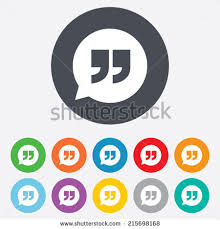 Quote Sign Interesting Quote Sign Icon Quotation Mark Speech Stock Vector Royalty Free