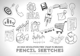 30 free photo pencil brush sets for