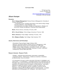 Examples Of Resumes Proper Resume Outline Best Template