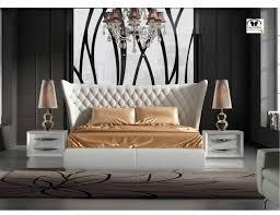 white king bedroom set. Modren King ESF Miami Carmen White King Bedroom Set 3Pcs EcoLeather Modern Made In  Spain Reviews For H