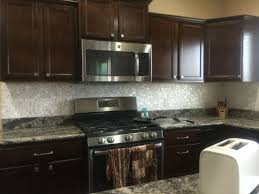 Dark Cabinets And Dyi Mother Of Pearl Kitchen Backsplash Mother