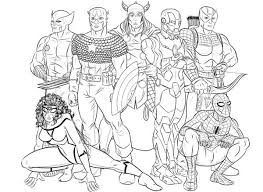 Small Picture kids coloring pages avengers free kids printables marvels the