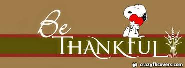 snoopy be thankful thanksgiving facebook cover facebook timeline cover photo fb cover