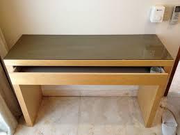 ikea malm desk glass top