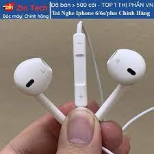 Tai nghe iphone 6 6s plus chính hãng chân tròn 3.5mm tương thích với các  dòng iphone 5 5s 6 6s 6 plus 6s plus