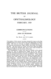 Estimate Request Form Gorgeous JOHN DE PECKHAM British Journal Of Ophthalmology