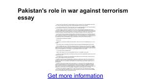 s role in war against terrorism essay google docs