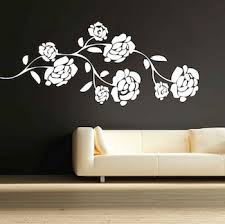 Small Picture Pretty Flower Branch Wall Decal Trendy Wall Designs