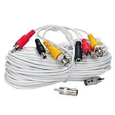 amazon com videosecu 100ft video audio power cable bnc rca cctv videosecu 100ft video audio power cable bnc rca cctv security surveillance dvr camera cable wire a27