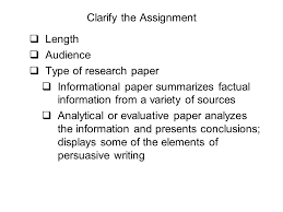 writing a research paper clarify the assignment iuml plusmn length writing a research paper 2 clarify