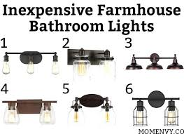 farmhouse bathroom lighting inexpensive farmhouse bathroom lights which inexpensive bathroom light would you choose all lights