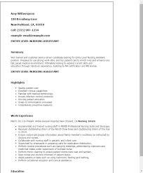 Sample Medical Receptionist Resumes 1 Entry Level Receptionist Resume Templates Try Them Now