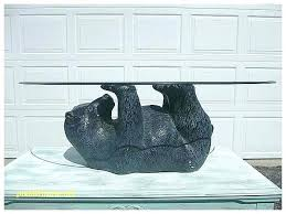 black bear coffee table end lovely with glass top polar of contents