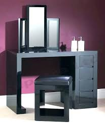 black makeup vanity modern table image with mirror set w bench