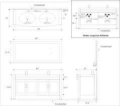 standard size double sink bathroom vanity dimensions