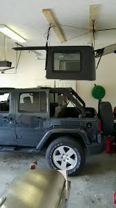 harken jeep wrangler hoister garage storage 4 point lift