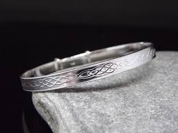 details about sterling silver 925 jewellery celtic baby bangle christening gift adjule uk