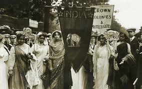 what did the suffragette movement in britain really look like n women in 1911 involved in a suffragette procession