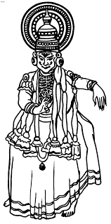 Folk Dances Of India Coloring Pages Kathakali Coloring Page Folk