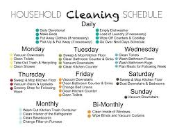 Household Chore Chart House Cleaning Calendar Template Cleaning Chore Chart Template Via