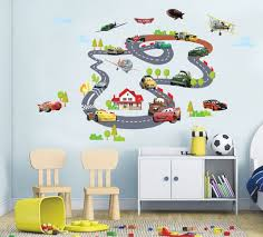 disney cars airplanes racing wall sticker removable nursery art boys decal mural