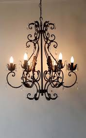 6 light rusty chandelier