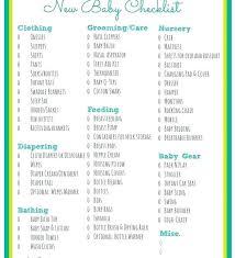 Baby Supplies Checklist Baby On A Budget New Checklist Printable Newborn 2017 Stuff