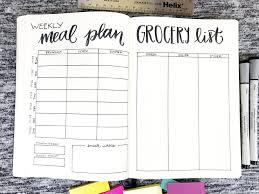weekly meal planning for two meal planner grocery list life by whitney