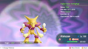 Pokemon Let's Go Glänzend 6 IV Alakazam, Gengar & Dragonite