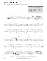 Brick House Horn Chart Sheet Music Digital Files To Print Licensed Walter Orange
