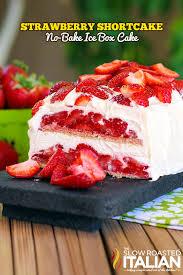 Strawberry Shortcake No Bake Icebox Cake