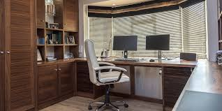 bespoke office desks. Bespoke Walnut Wood Home Office. Contemporary Handcrafted Desks Office