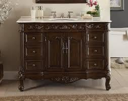 42 Bathroom Vanities Adelina 42 Inch Antique Bathroom Vanity Fully Assembled White