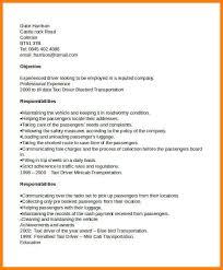 Curriculum Vitae For Driver Job Taxi Driver Cv Template Jpg