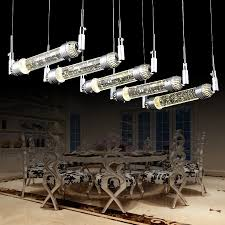 dining room magic bubble crystal light fixtures res de cristal 2016 new fashion bar lamp 20w led strip home pendant light in pendant lights from lights