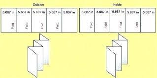 4 Panel Brochure Template 8 Panel Brochure Template Accordion Fold Printable Vector