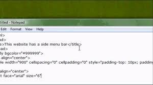 How To Design A Menu Bar In Html Html Website Design Tutorial How To Make A Side Menu Bar