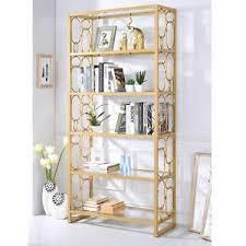 image is loading milavera modern office rectangular bookcase bookshelf gl shelves