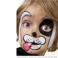 simple step by step face painting instructions for gargoyle tiger