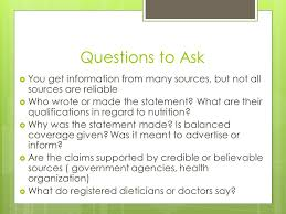 5 questions to ask you get information from many sources