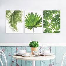 Home office wall art Creative Wall Design Girl12queen Fashion Palm Leaf Canvas Frameless Painting Home Office Wall Art Decoration Walmartcom Walmart Girl12queen Fashion Palm Leaf Canvas Frameless Painting Home Office