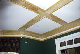 diy coffered ceilings great ceiling out of simple boards and basic trim hang down as far diy coffered ceilings