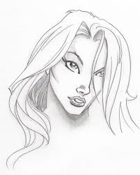 ic book female face sketch by artcanist