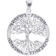 wiccan tree of life rune pendant at all wicca magickal supplies wiccan supplies