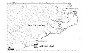 Obx Tide Chart 2017 Location Of The Study Areas On The Outer Banks Of North